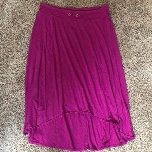 Athleta hi-low pink skirt XL